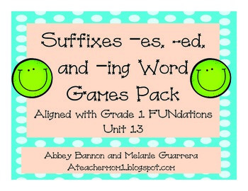 Suffixes -s, -es, -ing, and -ed