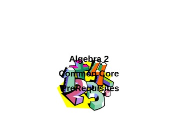 Unit 1A Prerequisite Power Points for Algebra 2 Common Cor