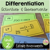 Calculus Differentiation Review & Assessment Bundle