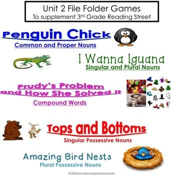 Unit 2 File Folder Games: 3rd Grade Reading Street (2011)