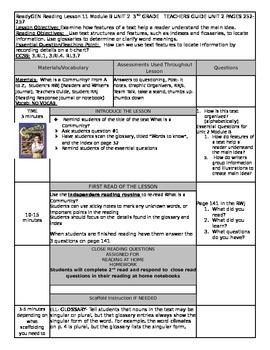 Unit 2 Module B Lesson 11 Grade 3  ReadyGEN What is a Comm