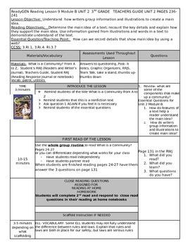 Unit 2 Module B Lesson 9 Grade 3  ReadyGEN What is a Commu