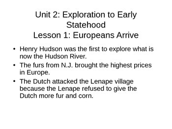 Unit 2 New Jersey Notes Harcourt Series