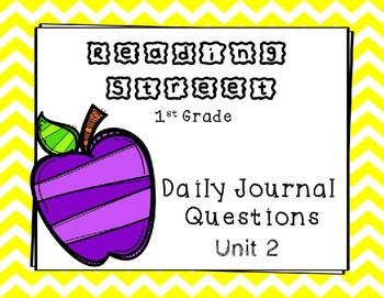 Unit 2 Reading Street Weekly Journal Ideas. 1st Grade.