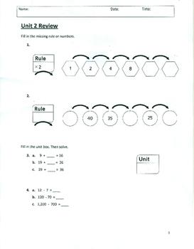 Unit 2 Review - Grade 3 Everyday Mathematics (Edition 4)