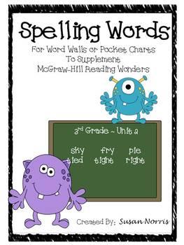 Unit 2 Spelling Words ~ McGraw-Hill Reading Wonders
