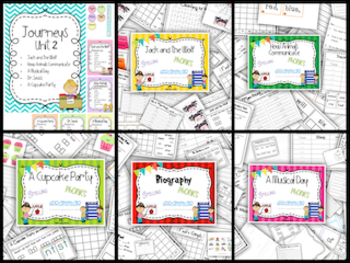 Unit 2 Stories 6-10 Journeys {spelling, grammar, and phoni