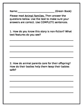 Unit 2 Week 4 WONDERS second grade leveled reader questions