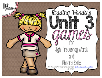 Unit 3 Games for Reading Wonders Grade 1