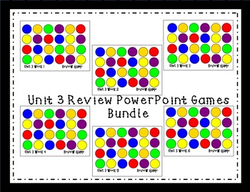 Unit 3 Interactive Review Games for Smart Notebook. Readin