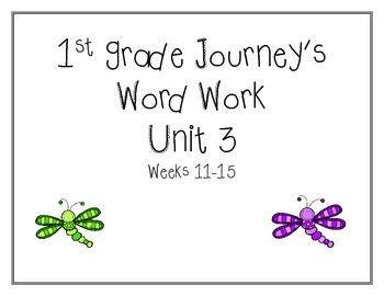 Unit 3 Journey's Word Work 1st grade