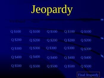 Unit 3 Lesson 13 Yonder Mountain: A Cherokee Legend Jeopardy