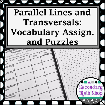 Parallel Lines - Unit 3: Parallel Lines and Transversals -