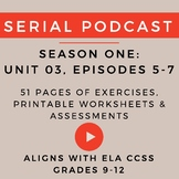Unit 3: Serial Podcast Lesson Plans & Printable Worksheets