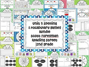 Unit 3 Spelling and Vocabulary Games Scott Foresman Second
