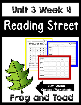 Unit 3 Week 4. Frog and Toad Together. Reading Street. Cen
