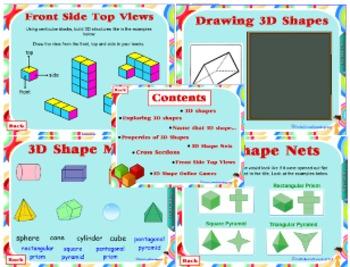 Mathematics Complete Unit - 3D Shapes - Grades 2-6 - Smart