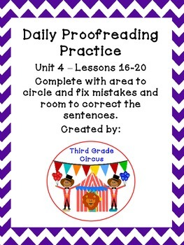 Unit 4 Daily Proofreading and Language Practice (DLP) for