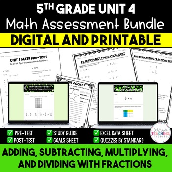 Fraction Math Resources *5th Grade* {Unit 4}