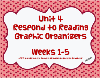 Unit 4 Reading Wonders Respond to Reading Graphic Organizer