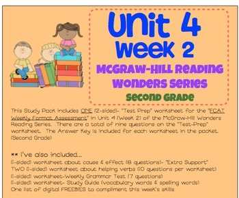 Unit 4, Week 2 Study Guide for Wonders Second Grade