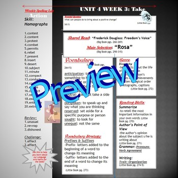 Unit 4 Week 3 Skills Guide for Fifth Grade based on McGraw