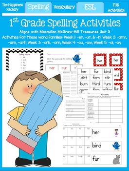 Unit 5 ~ 1st Grade Spelling Packet
