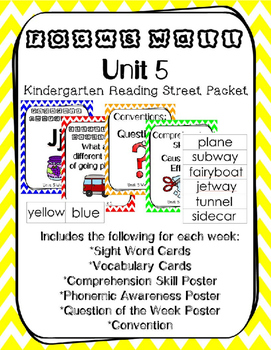 Unit 5 Kindergarten Reading Street Focus Wall Weeks 1-6 Chevron