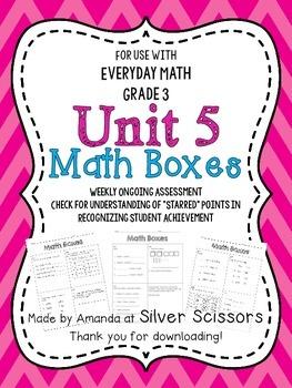 Unit 5 Math Boxes - Third Grade