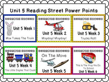 Unit 5 Powerpoint Bundle Reading Street Kindergarten