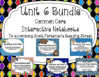 Unit 6 Bundle Common Core Interactive Notebook Journal