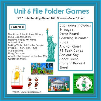 Unit 6 File Folder Games: 3rd Grade Reading Street (2011)