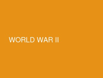 Unit 6 PowerPoint- WWII
