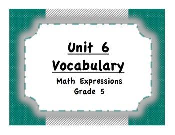 Unit 6 Shapes, Capacity, Mass, Temperature Vocabulary (Mat