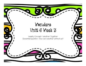 Unit 6 Week 3 Freebie