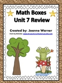 Unit 7 Fractions Math Boxes Review 4th Grade