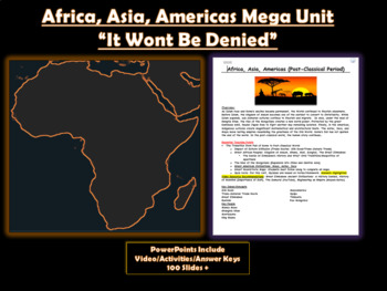 **New Unit 9: Africa, America, and Asia (Post-Classic)**