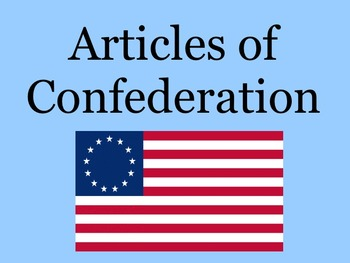 Unit Articles of Confederation Treaty of Paris Revolutiona