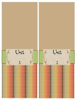 Unit Binder Spines (Units 1-6)