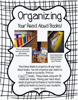 Unit Book Bin Labels