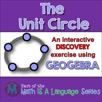 Unit Circle - interactive discovery exercise - Geogebra