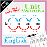 Unit Conversion Metric System - km, m, cm & mm