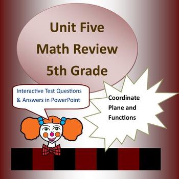 Unit Five Common Core Review for 5th Grade Math