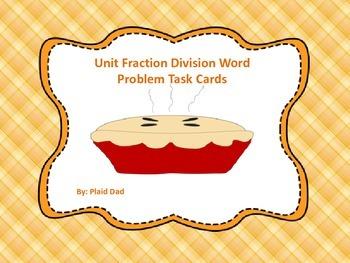 Unit Fraction Division Word Problem Task Cards