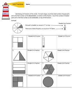 Fraction Worksheet 1