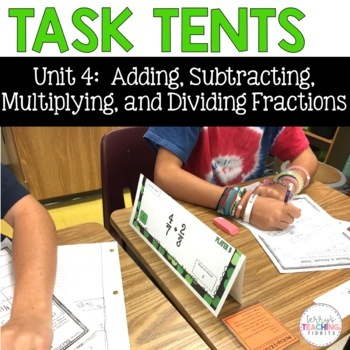 Task Tents™ - Math Edition {5th Grade Unit 4}