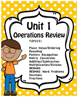 Unit One - Full Unit - Operations Review