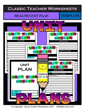Unit Plan - Health Unit Plan - Template - Up to Four Topics