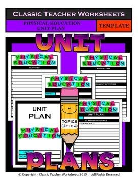 Unit Plan - Physical Education Unit Plan - Template - Up t