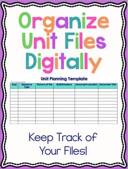 Organize Unit Files Digitally